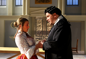 """Lenne Klingaman in """"Tartuffe"""" at The Shakespeare Theatre DC."""