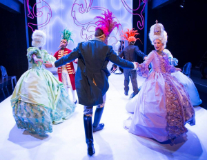 """""""Marie Antoinette"""" at Stages Repertory Theatre, directed by Leslie Swackhamer. Photo by Bruce Bennett."""