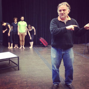 Whit MacLaughlin in the studio with NPL and PATP actors