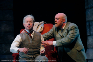 Darragh Kennan and Andrew McGinn in Sherlock Holmes and the American Problem. Photo by Chris Bennion.