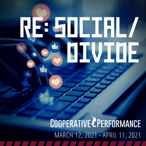 """A poster for the event """"RE: SOCIAL/DIVIDE"""""""