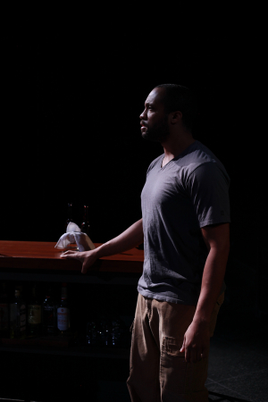 """Tre Cotten in """"Force Continuum"""" at UW Drama. Photo by Mike Hipple."""