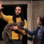 "Rudy Roushdi (PATP '16) in ""Brooklyn Bridge"" at Seattle Children's Theatre this past winter."