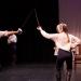 Byron Walker and Lindsey Crocker in UTS' Hamlet / Photo by Max Golub
