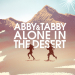 Abby and Tabby Alone in the Desert Title Art